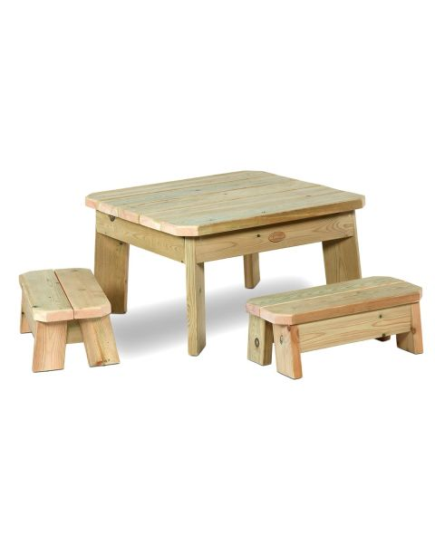 Millhouse Outdoor Toddlers Square Table and Bench Set