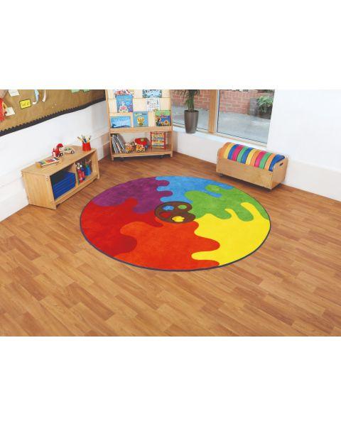 Decorative Colour Palette Classroom Rug