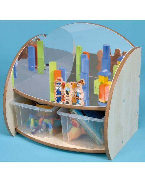 Mini Range Shelf with Mirrors and Trays