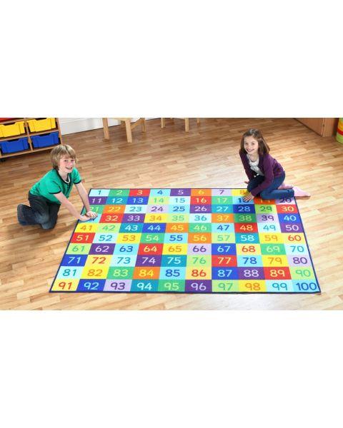 Rainbow 1-100 Numbers Children's Classroom Carpet