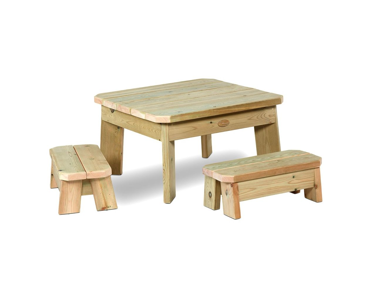 Millhouse Outdoor Toddlers Square Table, Childrens Outdoor Furniture Uk