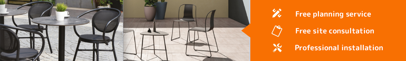 metal cafe chairs